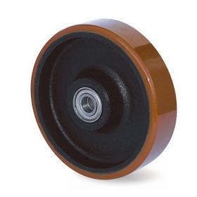 Kolo, ocelolitinový disk s kuličkovým ložiskem a polyuretanovým běhounem
