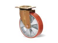 Zátěžové kladky, hliníkový disk s kuličkovým ložiskem a polyuretanovým běhounem