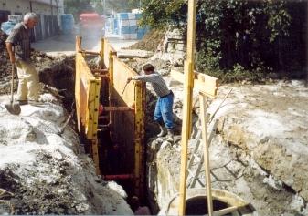 D-beton: Dešťová kanalizase