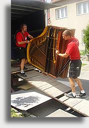 Stěhování klavírů, pian, starožitností