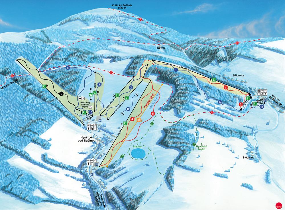 Králický Sněžník - mapa