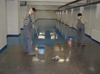 Nátěr betonové podlahy