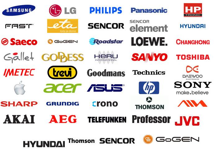 Servisované značky Global Electronic