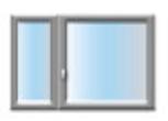 Plastové okno dvoukřídlé se sloupkem