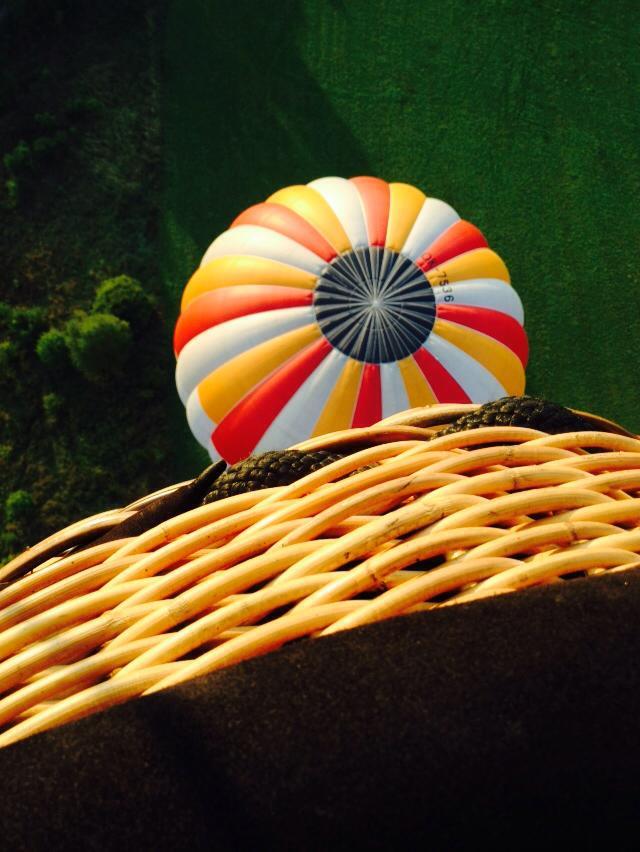 koš horkovzdušného balónu