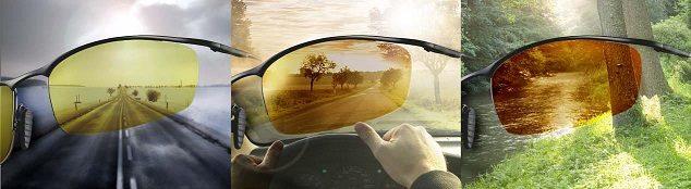 polarizační čočky pro řidiče