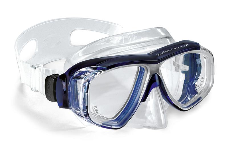 potápěčské brýle modré