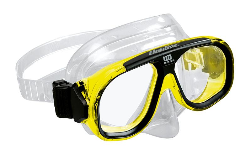 potápěčské brýle žluté