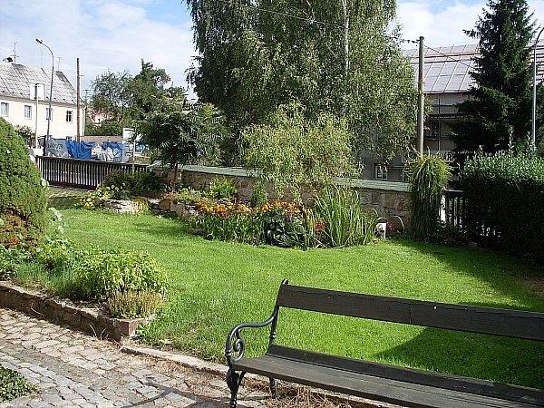 Zahrada u Pensionu Pavla