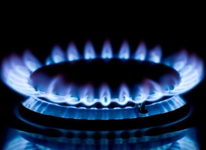 Foto zapáleného plynu na sporáku
