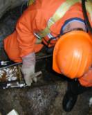 foto technika při údržbě kanalizace