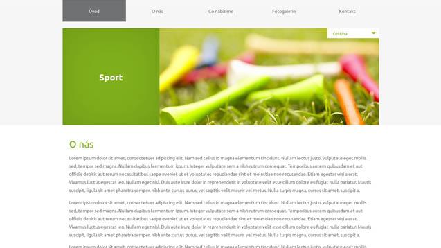 Sport zelená šablona číslo 609