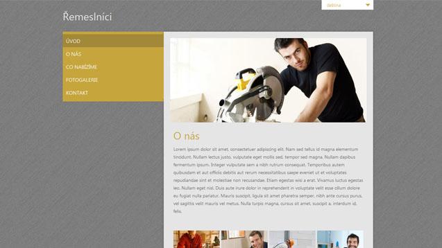 Řemeslníci žlutá šablona číslo 236