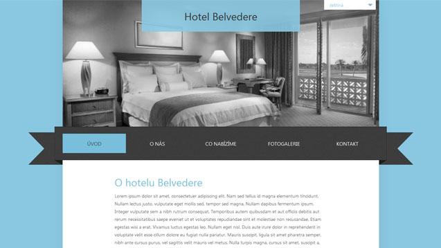 Hotel Belvedere tyrkysová šablona číslo 263