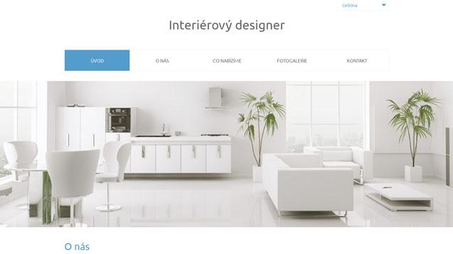 Interierový designer modrá šablona číslo 566