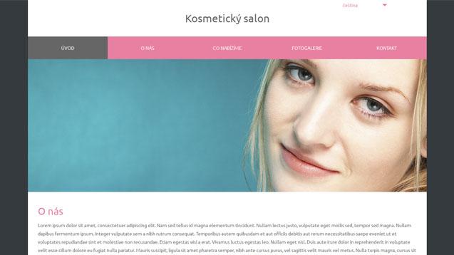 Kosmetický salon růžová šablona číslo 576