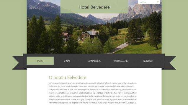 Hotel Belvedere zelená šablona číslo 230