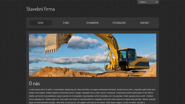 Stavební firma černá šablona číslo 365