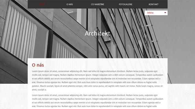 Architekt tmavě červená šablona číslo 591