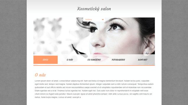 Kosmetický salon oranžová šablona číslo 352