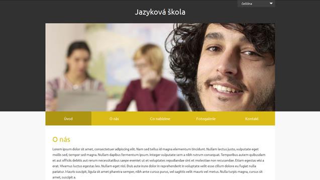 Jazyková škola žlutá šablona číslo 627