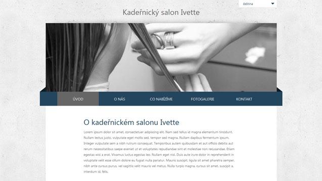 Kadeřnický salon Ivette tmavě modrá šablona číslo 253