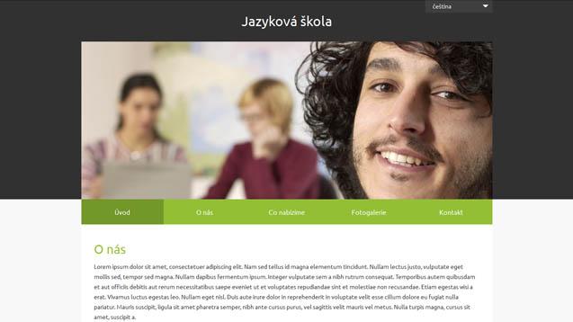 Webmium šablona jazyková škola