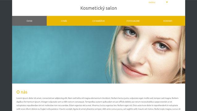 Kosmetický salon žlutá šablona číslo 575