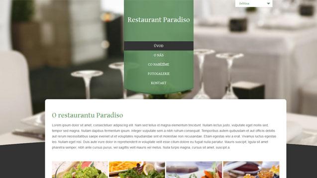 Restaurace zelená šablona číslo 299