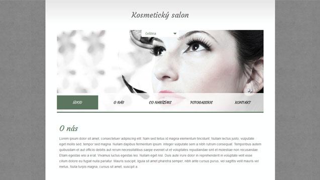 Kosmetický salon tmavě zelená šablona číslo 344