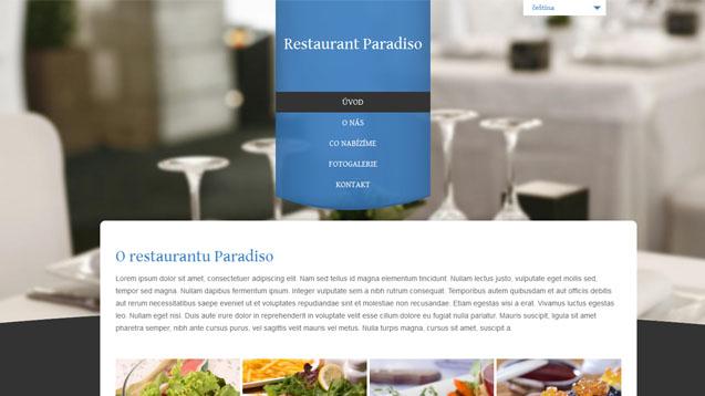 Restaurace modrá šablona číslo 307