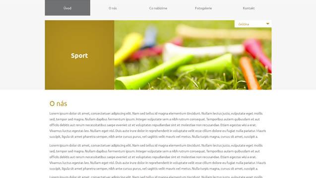 Sport tmavě žlutá šablona číslo 610