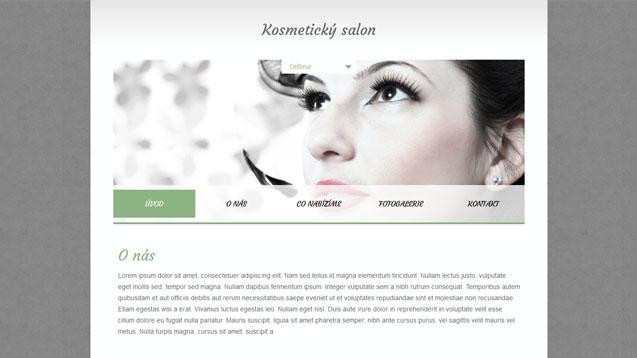 Kosmetický salon zelená šablona číslo 342