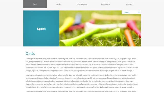 Sport tyrkysová šablona číslo 616
