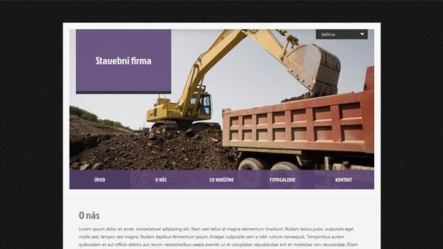 Stavební firma fialová šablona číslo 418