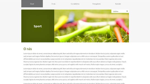 Sport tmavě zelená šablona číslo 611