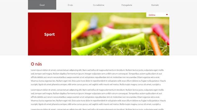 Sport červená šablona číslo 617