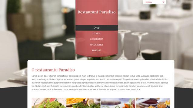 Restaurace červená šablona číslo 306