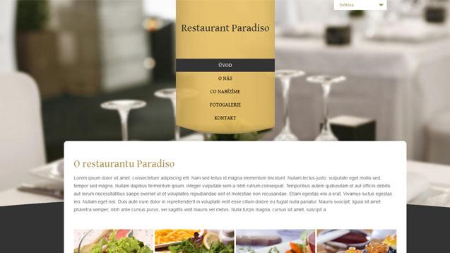 Restaurace žlutá šablona číslo 303