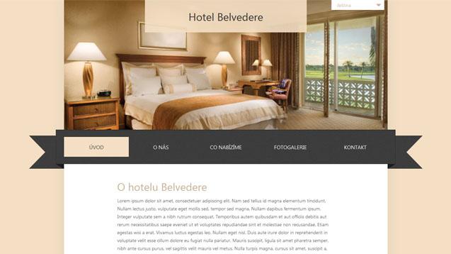 Hotel Belvedere béžová šablona číslo 234