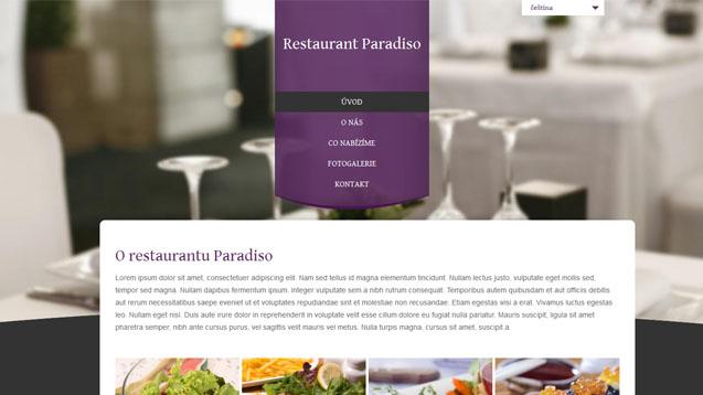 Restaurace fialová šablona číslo 309