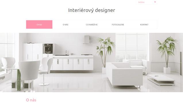 Interierový designer růžová šablona číslo 563