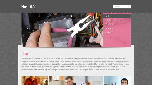 Elektrikáři růžová šablona číslo 292
