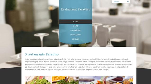 Restaurace tyrkysová šablona číslo 305