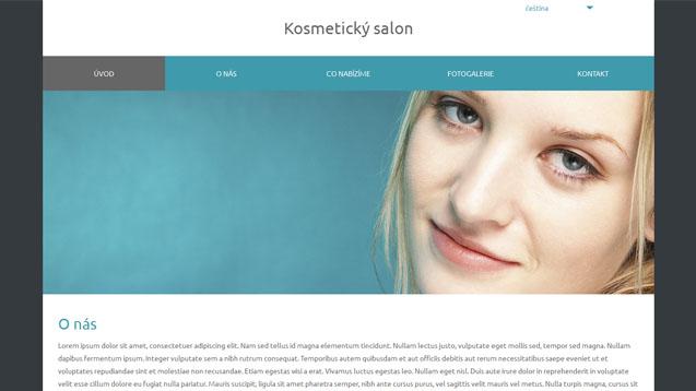Kosmetický salon tyrkysová šablona číslo 577