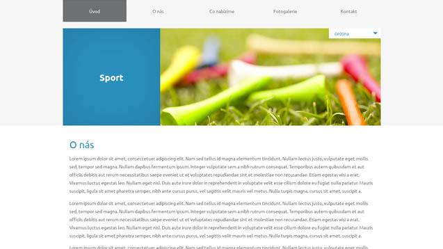 Sport modrá šablona číslo 618