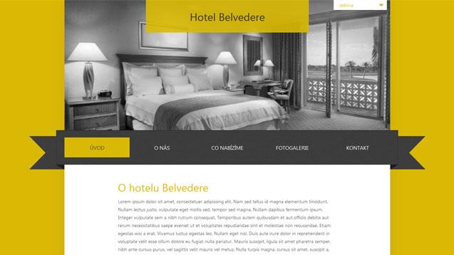Hotel Belvedere žlutá šablona číslo 261