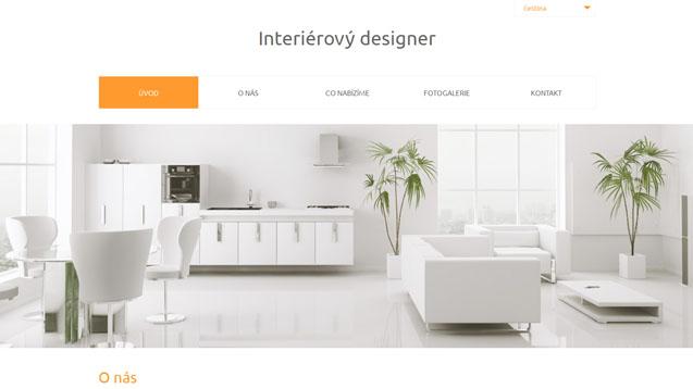 Interierový designer oranžová šablona číslo 567