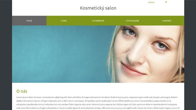 Kosmetický salon tmavě zelená šablona číslo 572