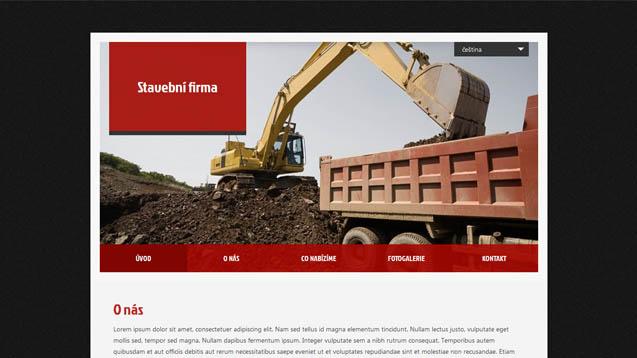 Stavební firma červená šablona číslo 415